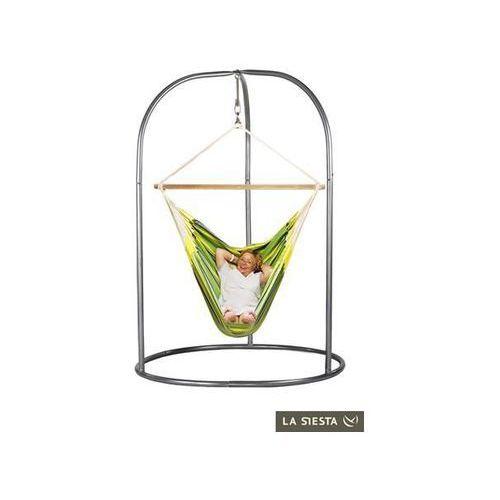 Zestaw hamakowy: leżak hamakowy currambera ze stojakiem romano, zielony cul21roa16 marki La siesta