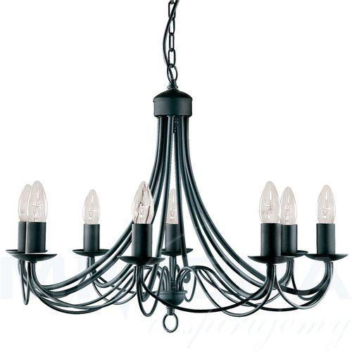 Marietherese lampa wisząca 18 chrom kryształ, kolor czarny,