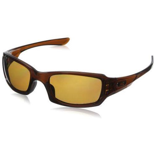 okulary przeciwsłoneczne dla mężczyzn fives squared, brązowy, jeden rozmiar marki Oakley
