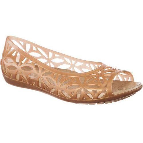 Sandały Crocs Isabella Jelly II Flat Dark Gold/Gold DARK GOLD/GOLD
