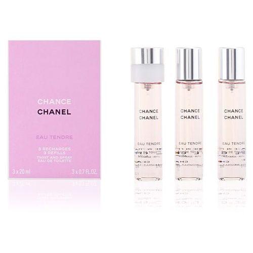 Chanel  chance eau tendre 3x20ml w woda toaletowa wkład