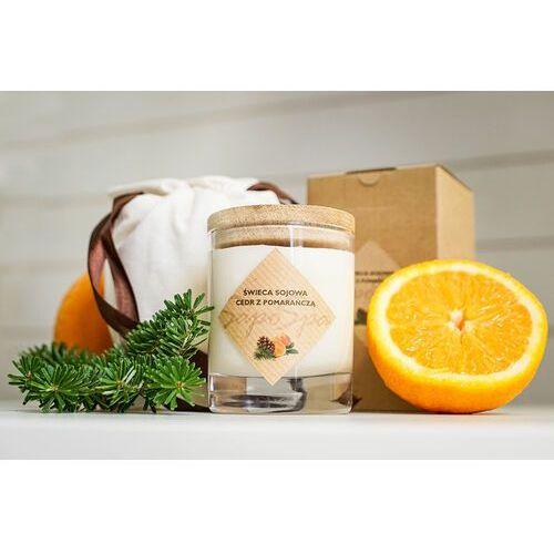 Świeca sojowa - Cedr z pomarańczą + Sakiewka 200ml