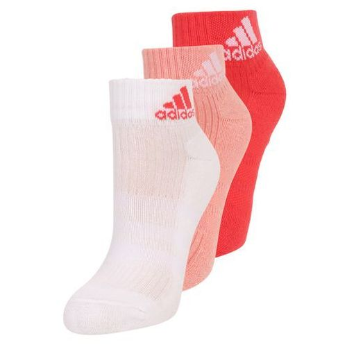 adidas Performance 3 PACK Skarpety sportowe still breathe/white/coral pink