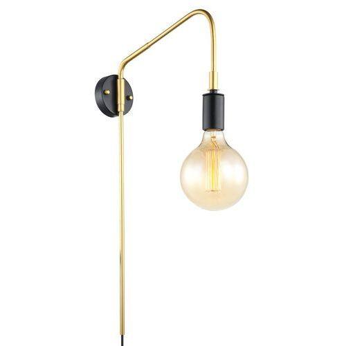 Kinkiet lampa ścienna malene mbm3386/1 bk+gd industrialna oprawa na wysięgniku żarówka bulb loft złota marki Italux