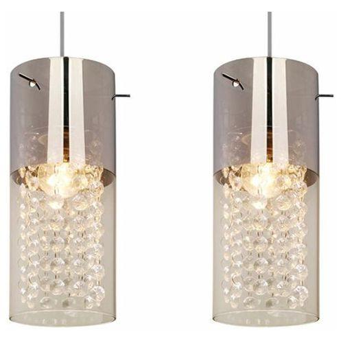 LAMPA wisząca ZARA LP-5221/3L Light Prestige tuby OPRAWA szklana kryształki glamour crystal chrom, kolor srebrny,