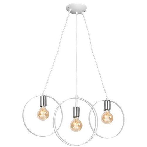 Luminex olimp 1255 lampa wisząca zwis 3x60w e27 biały / chrom