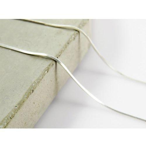 Srebrny (925) łańcuszek LINKA 45 cm, kolor szary