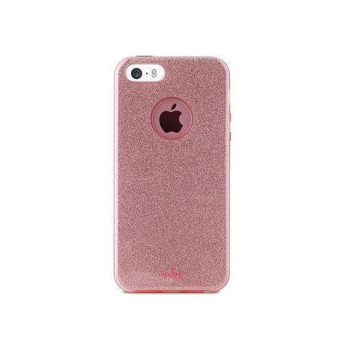 Puro Etui  glitter shine cover do iphone 5/5s/se różowy (8033830170942)