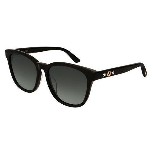 Okulary Słoneczne Gucci GG 0232SK 001, kolor żółty