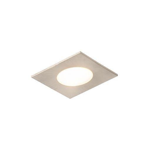 Nowoczesna kwadratowa oprawa do wbudowania stal zawiera led ip65 - simply marki Qazqa