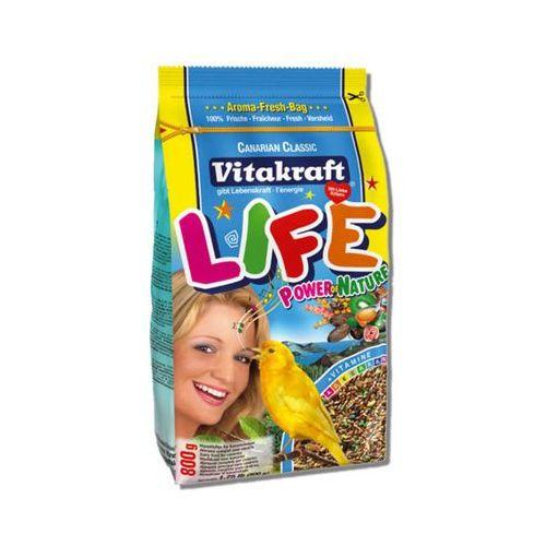 Vitakraft  life power - karma dla kanarka 800g, kategoria: pokarmy dla ptaków