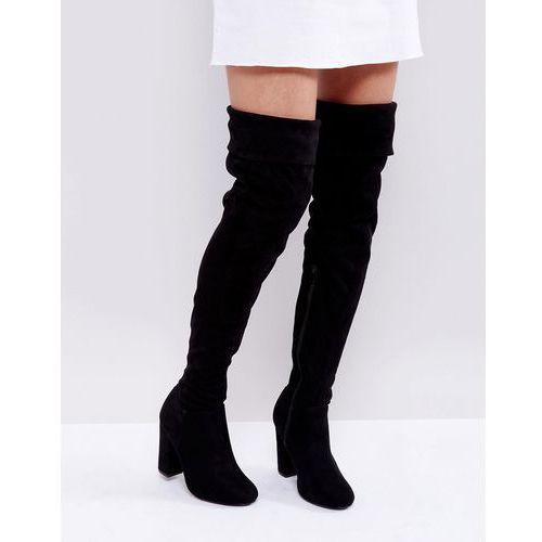 block heel over knee boots - black marki Truffle collection