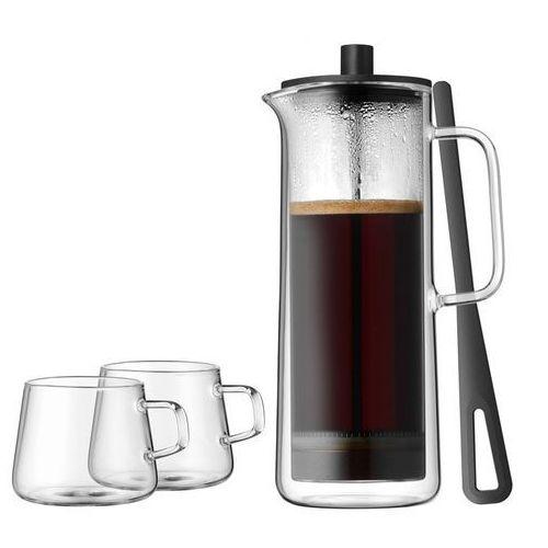 Wmf kawiarka tłokowa z 2 filiżankami do kawy srebrny, przezroczysty (4000530688194)