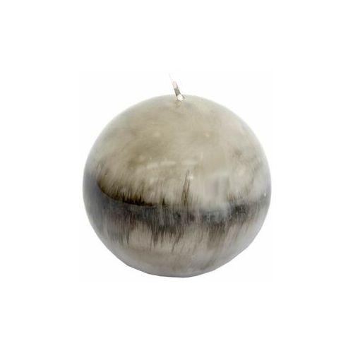 Świeca kula SANTA ANA szaro-czarna wys. 10 cm (5901259300437)