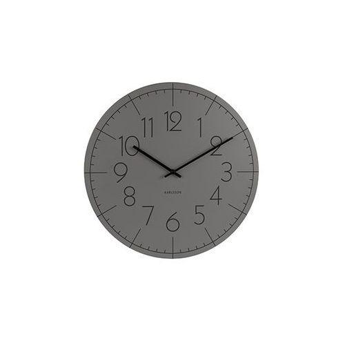 Zegar ścienny Blade Numbers metal dark grey by Karlsson
