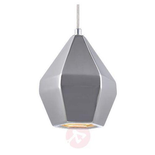 Ceramiczna lampa wisząca Ruby, srebrna