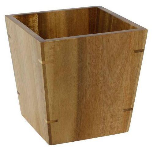 Pojemnik z drewna akacjowego | mały | 100x100x(h)100mm marki Olympia