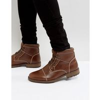 military lace up boots in brown - tan marki New look
