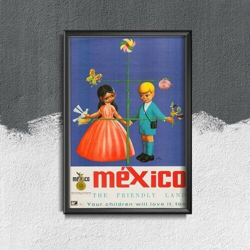 Plakat vintage do salonu plakat vintage do salonu meksyk ziemia przyjazna marki Vintageposteria.pl