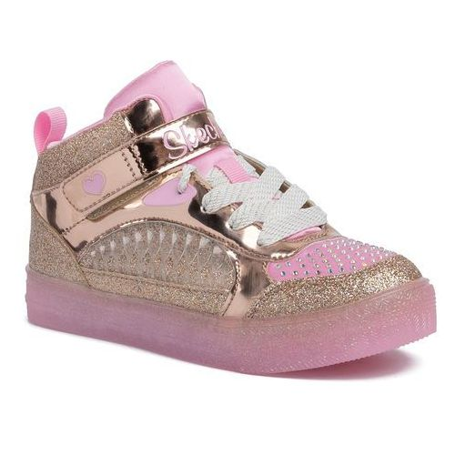 Sneakersy SKECHERS - Tech Lights 20278L/GDPK Gold/Pink