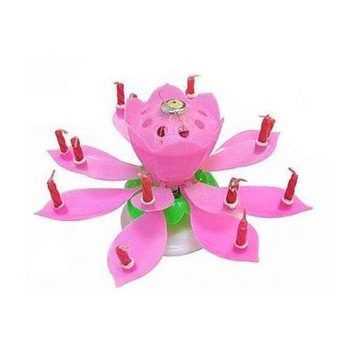 Świeczka grająca - tańcząca - różowa, 150161