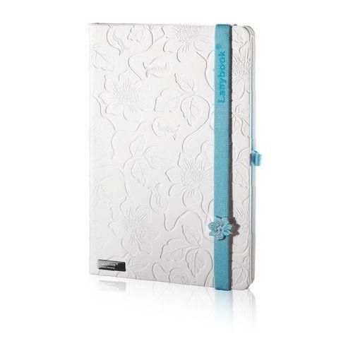 Notes A5 Lanybook Innocent Passion w linie biały z niebieską gumką (8057432195349)