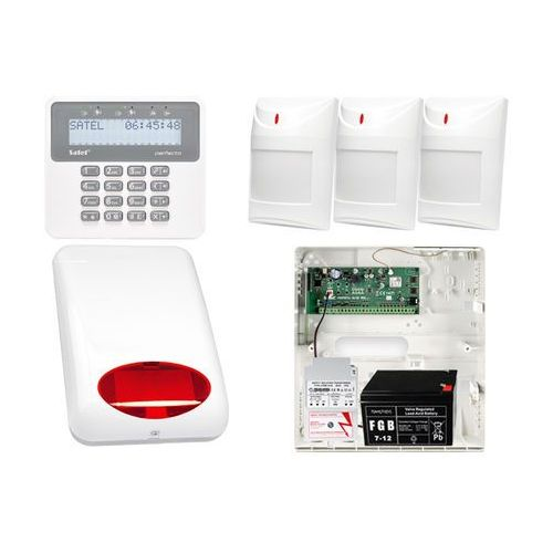Alarm do domu firmy PERFECTA na telefon SMS + Manipulator PRF-LCD + 3x Czujnik ruchu + Akcesoria, ZA7931