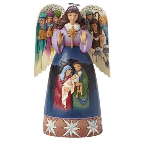 Jim shore Anioł z szopką,św. rodzina (lord at thy birth), 4041085  figurka ozdoba świąteczna
