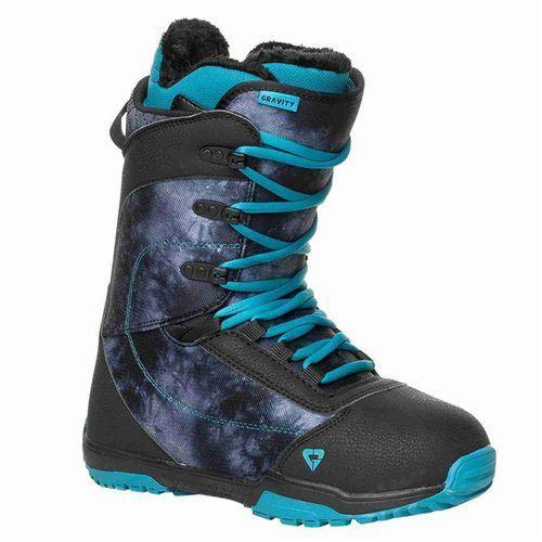 Gravity Buty snowboardowe - aura black (black)