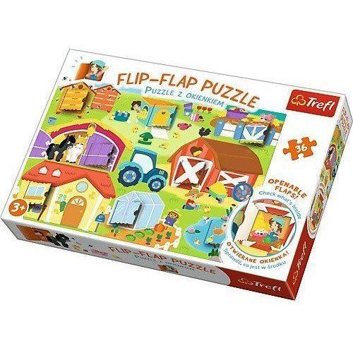 Flip-Flap Puzzle z okienkiem 36 Na farmie, 1_626585