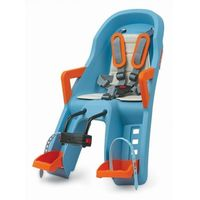 Fotelik dziecięcy na rower Polisport Guppy Mini FF - niebiesko/pomarańczowy