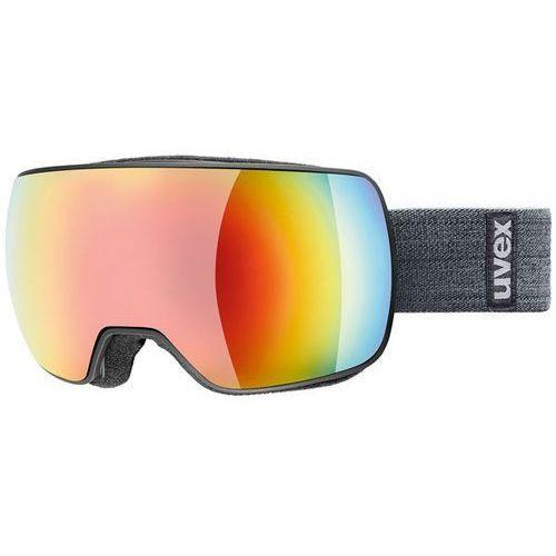 Gogle narciarskie lustrzane compact fm szary/rainbow 550/130/2030 marki Uvex