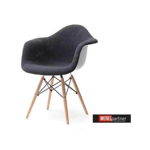 KRZESŁO TAPICEROWANE DO JADALNI MPA WOOD TAP CZARNE - produkt z kategorii- Krzesła