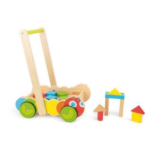 Small foot design Wózek chodzik gąsienica z klockami - zabawka dla dzieci