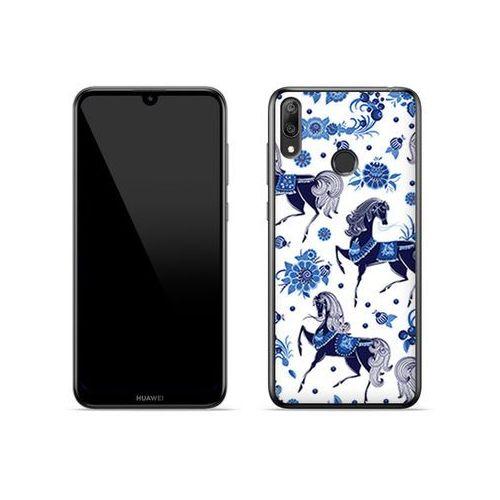 Etuo fantastic case Huawei y7 (2019) - etui na telefon fantastic case - folkowe niebieskie konie