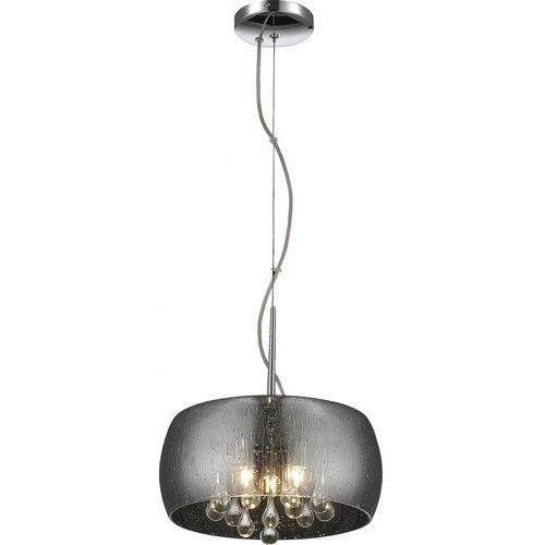 rain lampa wisząca 3*g9 max 42w metal chrome smoky glasscrystal drops inside p0076-03e-f4k9 marki Zumaline
