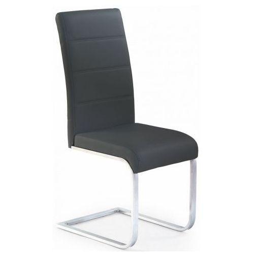 Producent: profeos Tapicerowane czarne krzesło w stylu nowoczesnym nivor