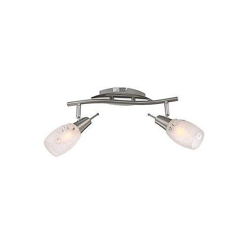 Globo florita reflektor nikiel matowy, chrom, 2-punktowe - design - obszar wewnętrzny - florita - czas dostawy: od 4-8 dni roboczych (9007371240548)
