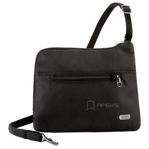 Pacsafe Daysafe Slim Crossbody damska torebka na ramię / czarna - Black, kolor czarny