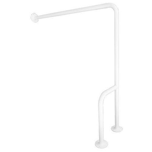 Poręcz dla niepełnosprawnych ⌀ 25 700 mm typu H P stal biała