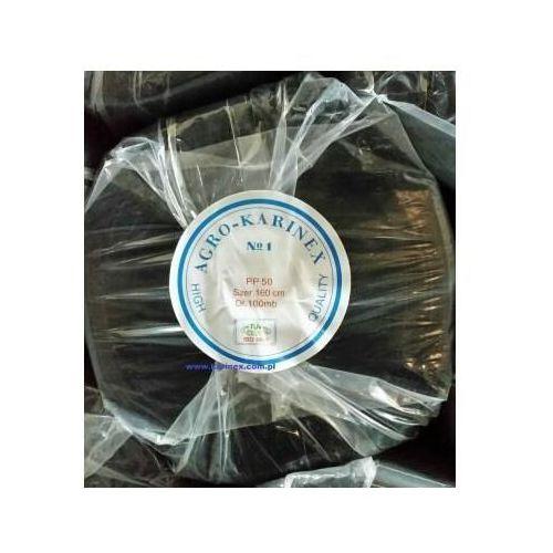 Agrokarinex Agrowółknina ściółkujaca pp 50 g/m2 czarna 1,6 x 100 mb. rolka o wadze 8,6 kg.