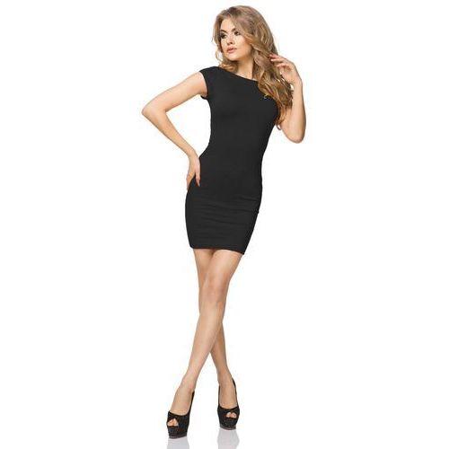 Czarna mini sukienka z dekoltem na plecach marki Tessita