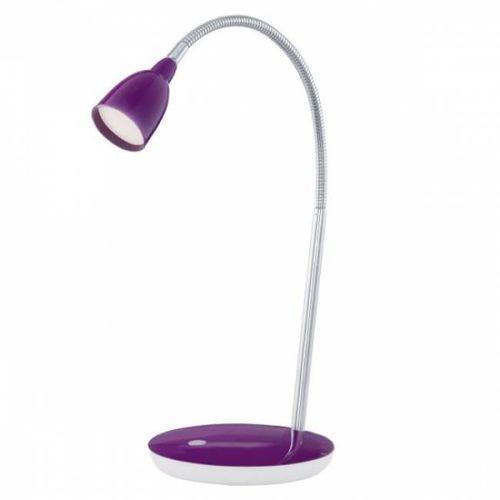 Eglo durengo lampa stołowa led chrom, fioletowy, 1-punktowy - nowoczesny - obszar wewnętrzny - durengo - czas dostawy: od 10-14 dni roboczych