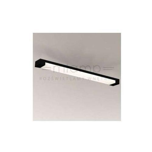Plafon LAMPA sufitowa SUMOTO 8036/G5/CZ Shilo prostokątna OPRAWA natynkowa LISTWA do łazienki IP44 czarna, kolor Czarny