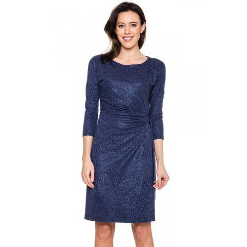 Sukienka we wzór cekinowy - Vito Vergelis, kolor niebieski