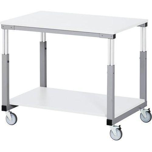 System stanowisk pracy, regulacja wysokości 650 - 1000 mm, wózek stołowy z 4 rol