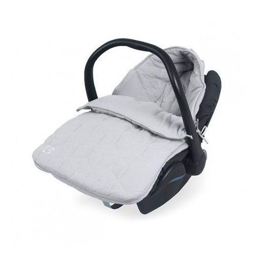 Śpiworek bawełniany do fotelika / gondoli - graphic szary - marki Jollein