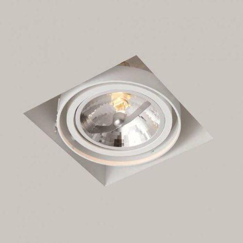 Oczko LAMPA sufitowa KOMORO 7322 Shilo regulowana OPRAWA podtynkowa WPUST kwadratowy do zabudowy biały, 7322