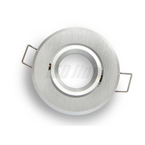 Oprawa halogenowa sufitowa okrągła ruchoma, aluminium, mr11 - srebrna szczotkowana marki Led line