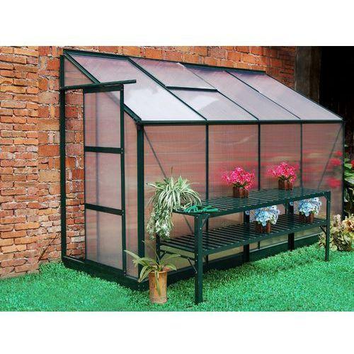 Szklarnia ogrodowa z poliwęglanu dostawiana do budynku o pow. 2,9 m² zenais z podstawą marki Vente-unique